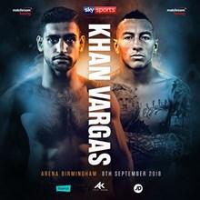 Eddie Hearn presents Amir Khan v Samuel Vargas, Arena Birmingham